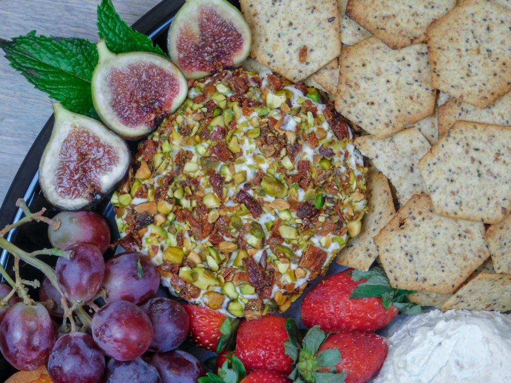 Pistachio and Sun-dried tomato Cashew Cheese