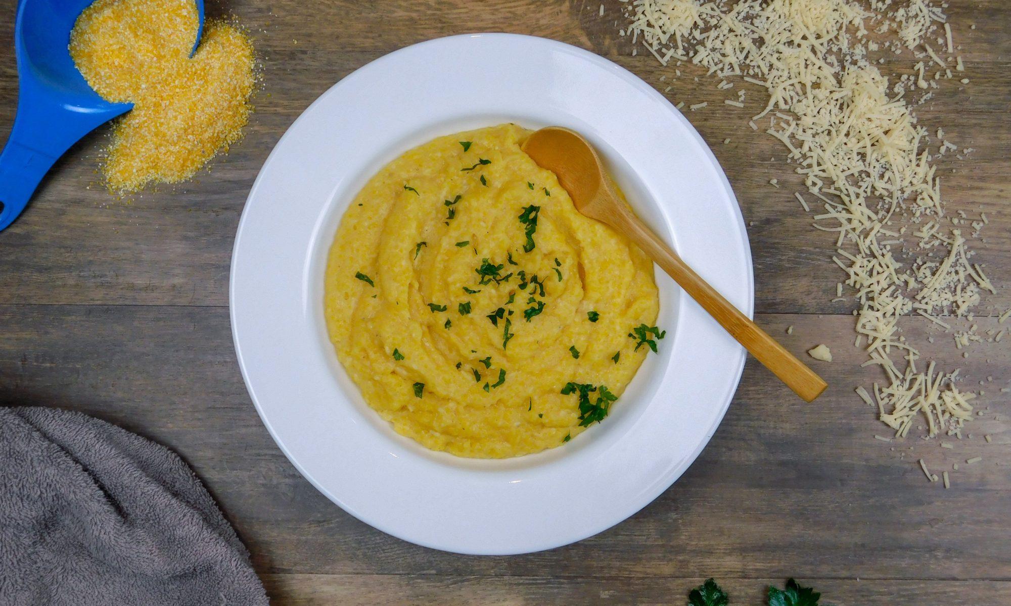 Creamy Garlic-Parmesan Polenta